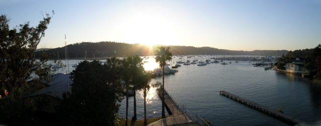 Looking over Pittwater from Newport just noth of Mona Vale at sunset