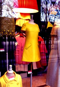 shop front yellow dress